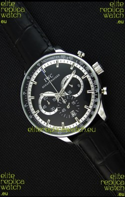 IWC Schaffhausen Japanese Replica Watch Quartz Movement in Black Dial
