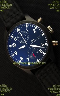 IWC Pilot's Top Gun Chronograph IW389001 1:1 Ceramic Case Ultimate Mirror Replica Watch