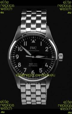 IWC MARK XVIII Swiss Replica Watch in 904L Steel Black Dial 40MM - 1:1 Mirror Replica