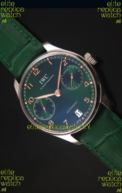 IWC Portugieser Swiss 1:1 Mirror Replica Watch Green Dial Steel Case Watch