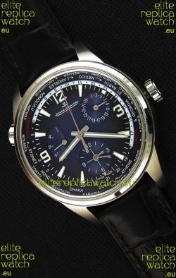 Jaeger-LeCoultre Polaris Geographic Steel Case Swiss Replica Watch - 904847J