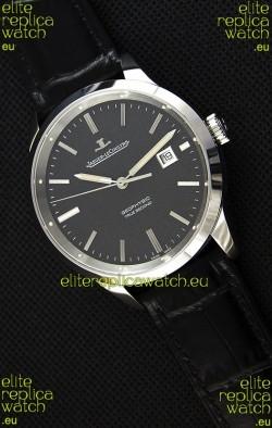 Jaeger LeCoultre Geophysic True Second Steel Case Watch Black Dial