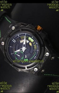 Linde Werdelin Spidolite II Swiss Replica Watch in Green Forged Carbon Case