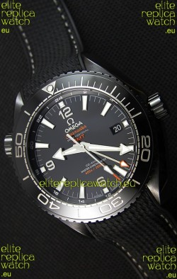 Omega Seamaster Planet Ocean Deep Black GMT 45.5MM 1:1 Mirror Replica Watch