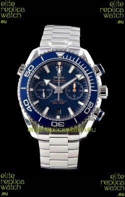 Omega Planet Ocean 600M Chronograph 904L Steel Blue Dial 1:1 Mirror Replica Watch