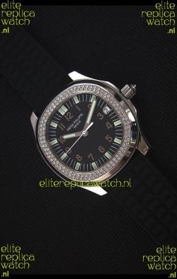 Patek Philippe Aquanaut Swiss Replica Watch with Swiss Diamonds Bezel