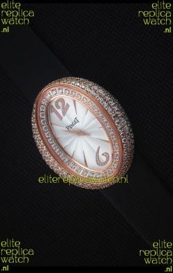 Piaget Limelight Magic Hour Swiss Quartz Watch Rose Gold in Black Strap