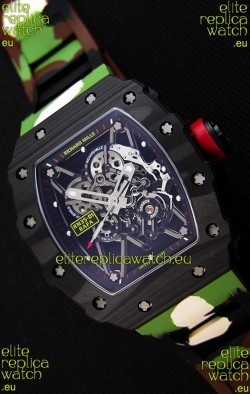 Richard Mille RM35-01 Rafael Nadal Forged Carbon Case with Camouflage Rubber Strap