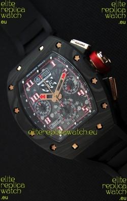 Richard Mille RM011 Romain Grosjean Lotus F1 Edition Forged Carbon Case Swiss Watch