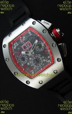 Richard Mille RM011-FM Felipe Massa One Piece Titanium Case Watch in Black Strap