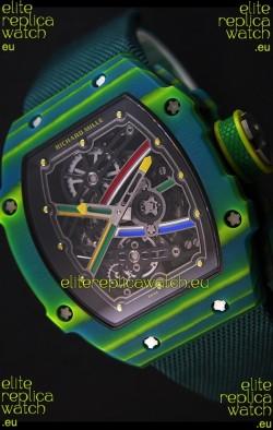 Richard Mille 67-02 Wayde Van Niekerk Forged Carbon Swiss Replica Watch