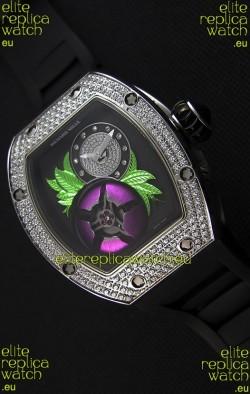 Richard Mille 19-02 Tourbillon Fleur Swiss Replica Watch in Stainless Steel