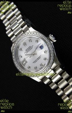 Rolex Datejust Ladies Star Diamonds Markers Swiss Watch CAL.2236 Movement 1:1 Mirror Replica