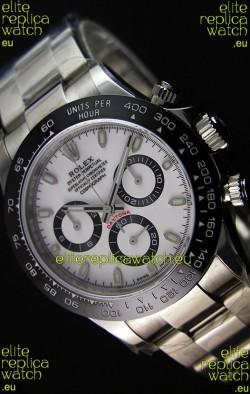 Rolex Cosmograph Daytona 116500LN White Dial Original Cal.4130 Movement - Ultimate 904L Steel Watch