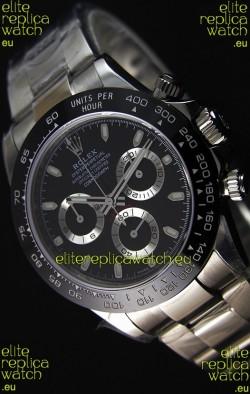 Rolex Cosmograph Daytona 116500LN Black Dial Original Cal.4130 Movement - Ultimate 904L Steel Watch