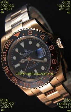 Rolex GMT Masters II 126715CHNR Everose Gold Swiss Replica 1:1 Mirror Watch