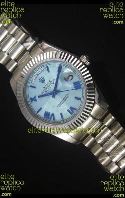 Rolex Day Date Light Blue Dial Replica Watch 40MM - 3255 Swiss Movement
