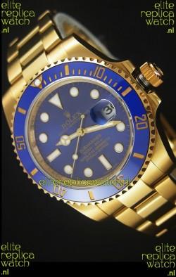 Rolex Submariner 16618 Gold Ceramic Bezel Replica 1:1 Watch with Swiss 3135 Movement