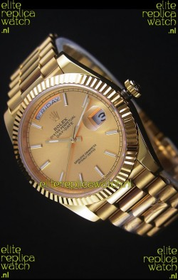 Rolex Day-Date Yellow Gold Replica Watch 40MM 2836-2 Swiss Movement