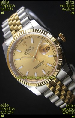 Rolex Datejust Replica Watch Gold Dial in 36MM with 3135 Swiss Movement