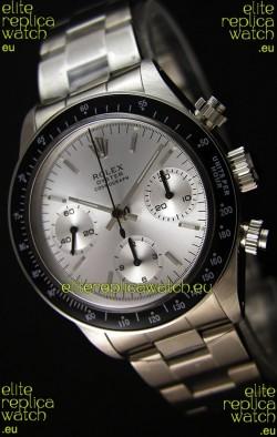 Rolex Daytona Vintage Steel Dial Swiss Replica Watch - 904L Steel Watch