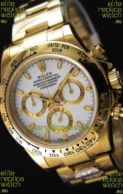 Rolex Cosmograph Daytona 116508 Yellow Gold Original Cal.4130 Movement - Improved Ultimate 904L Steel Watch
