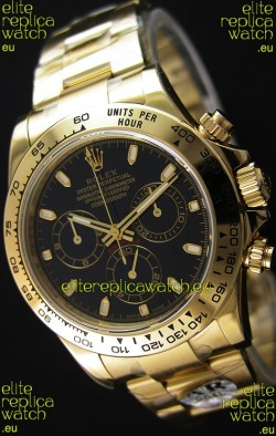 Rolex Cosmograph Daytona 116528 Yellow Gold Original Cal.4130 Movement - Improved Ultimate 904L Steel Watch