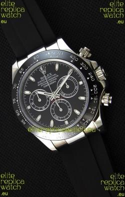 Rolex Cosmograph Daytona Black Dial Original Cal.4130 Movement - Ultimate 904L Steel Watch
