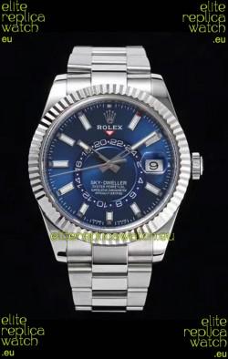 Rolex Sky-Dweller REF# 326934 Blue Dial Watch in 904L Steel Case 1:1 Mirror Replica