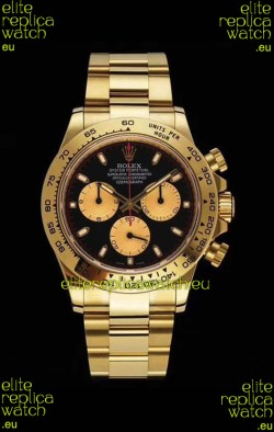 Rolex Daytona 116508 Yellow Gold Original Cal.4130 Movement - 1:1 Mirror 904L Steel Watch