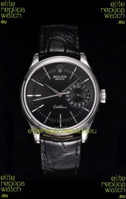 Rolex Cellini Date Ref#50519 Replica 1:1 Mirror 904L Steel Watch Black Dial
