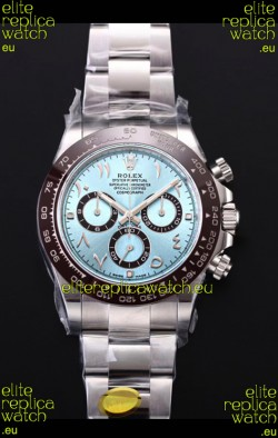 Rolex Daytona 116506 ICE BLUE ARAB Numerals Dial Cal.4130 Movement - Ultimate 904L Steel Watch