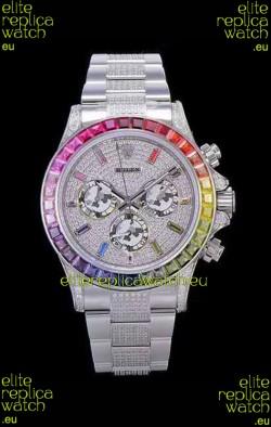 Rolex Daytona ICED OUT 904L Steel Casing Watch Original Cal.4130 Movement - 1:1 Mirror Replica