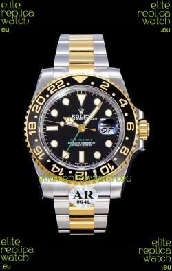 Rolex GMT Masters II 116713 Yellow Gold Swiss Replica 1:1 Mirror Watch 904L Steel