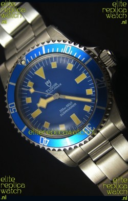 Tudor Oyster Prince Vintage 200M Blue Dial Squre Markers Swiss 1:1 Mirror Replica Watch