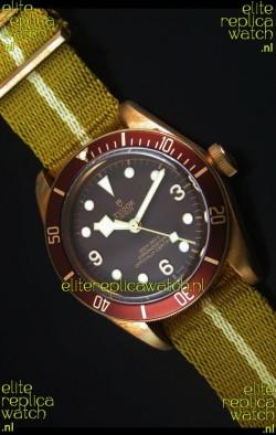 Tudor Heritage Bay Bronze Swiss Replica Watch with NATO Strap