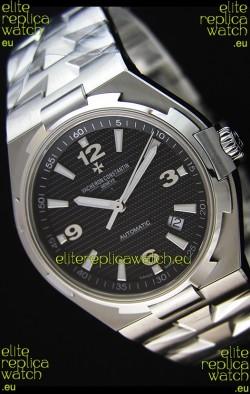 Vacheron Constantin Overseas Black Dial Swiss Replica Watch