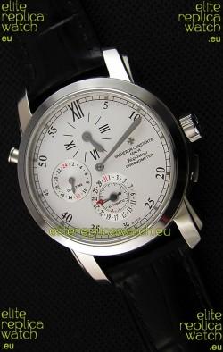 Vacheron Constantin Malte Dual Time Regulator Steel Swiss Replica Watch
