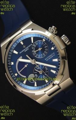 Vacheron Constantin Overseas Dual Time Blue Dial Swiss Replica Watch