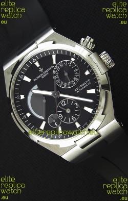 Vacheron Constantin Overseas Dual Time Black Dial Swiss Replica Watch