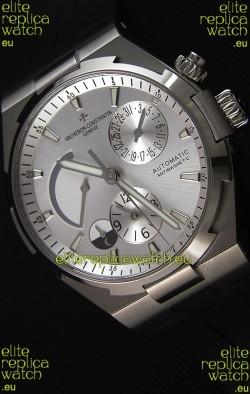 Vacheron Constantin Overseas Dual Time Steel White Dial Swiss Replica Watch