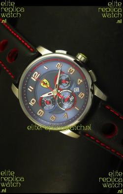 Scuderia Ferrari Heritage Chronograph Watch in Blue Dial