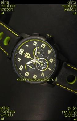 Scuderia Ferrari Heritage Chronograph Watch in Black Steel