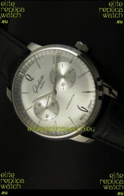 Glashuette Senator Japanese Replica Watch in Steel Dial