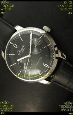 Glashuette Senator Japanese Replica Watch in Black Dial