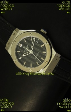 Hublot Classic Fusion 39MM Steel Case Watch Carbon Dial