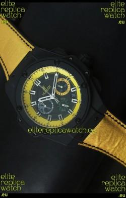 Hublot Big Bang Yellow Skeleton Swiss Quartz Watch 45MM