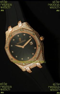 Audemars Piguet Royal Oak LADY Replica Watch in Pink Gold Casing