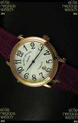 Franck Muller Master of Complications Liberty Japanese Watch Maroon Strap