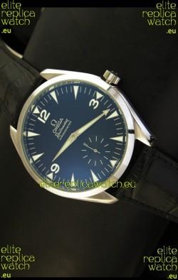 Omega Seamaster Railmaster Japanese Replica Watch in Black Leather Strap